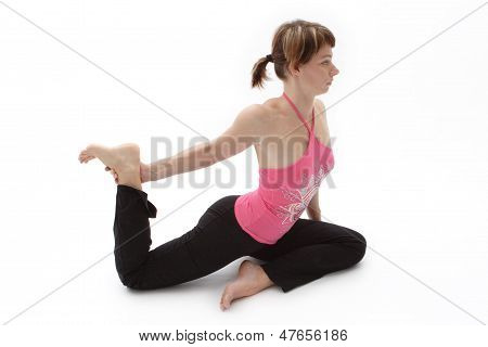Nice Body In Yoga Pose