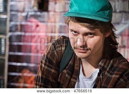 Suspicious Male With Hat