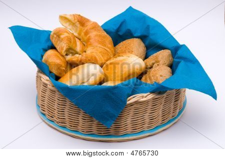 A Basket With Different Buns