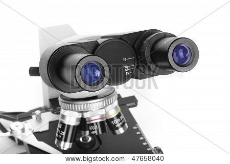 Ocular do microscópio