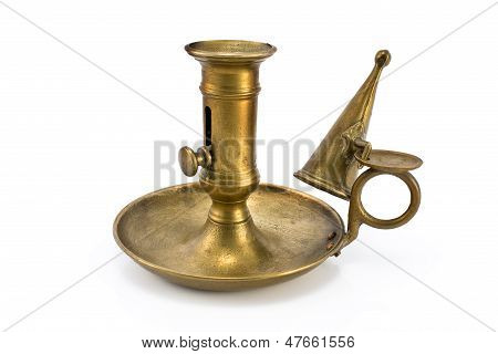 Old Bronze Candlestick