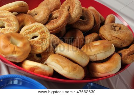 serving idea for bagels