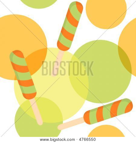 Seamless Pattern With Fruit Ice-cream