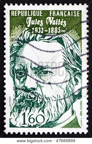 Postage Stamp France 1982 Jules Valles, Journalist And Author