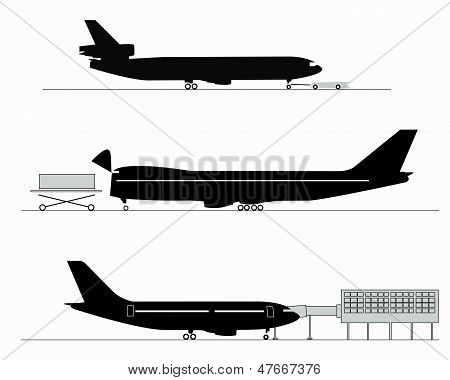 Silhouettes Of Aircraft