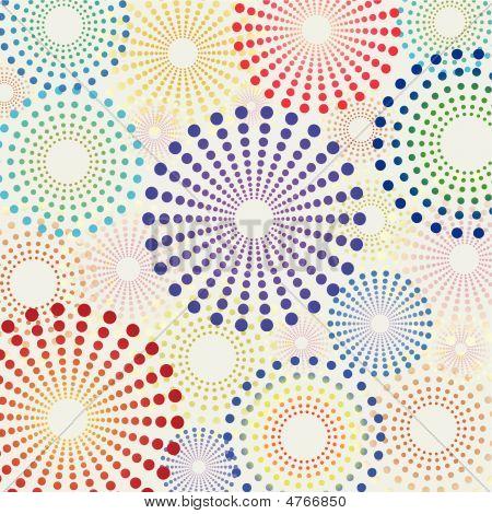 Retro Fun Dotted Circles Pattern
