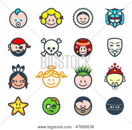 Characters for social networks or forum avatars II