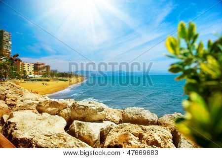 Torremolinos Coastal View. Spain, Costa del Sol