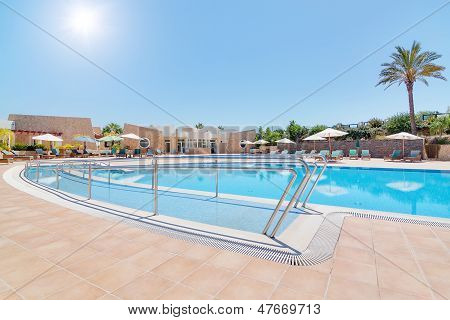 Modern Swimming Pool And A Track For The Disabled. In Summer, The Area Of ??the Hotel For Rest.