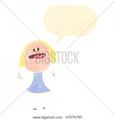 retro cartoon complaining woman