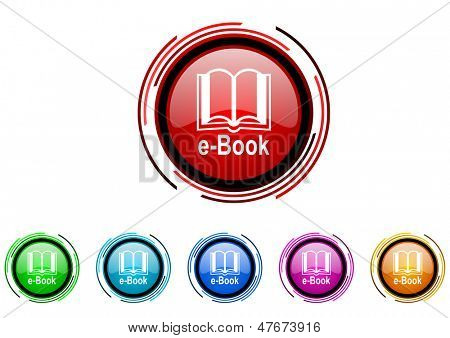 e-book icon set