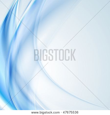 Abstract blue wavy background. Vector desig eps 10