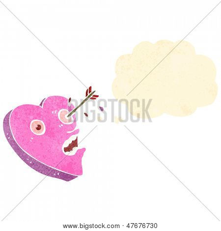 love struck heart retro cartoon
