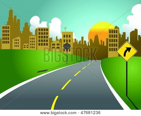 Camino de ciudad