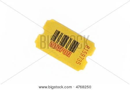Yellow Coupon With Serial Number