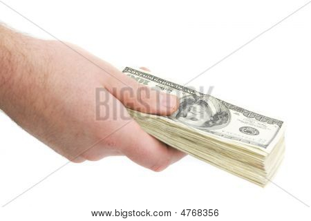 Man Paying With Cash