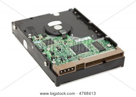 Backside View Of A Hard Disk