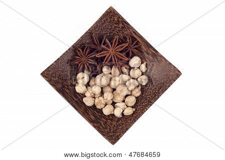 Asian Spice On Wood Tray
