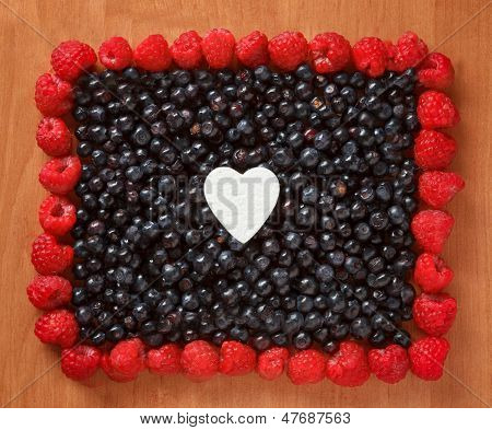Colorful Border Frame Made Of Berries