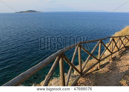 Coast of the Aegean Sea, route to Fortress Stageira