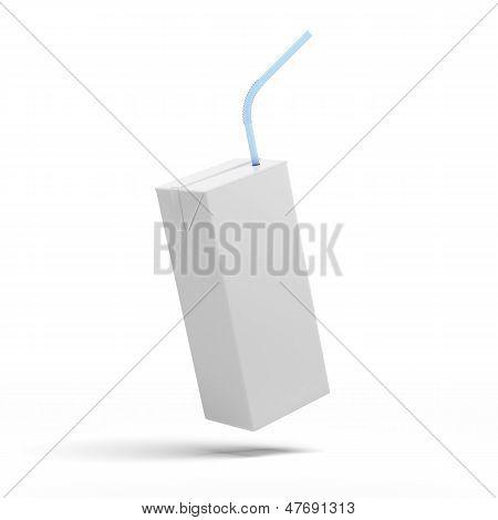 Blanco caja de jugo, yogur, leche, empaquetado