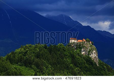 Medieval castle of Bled, Slovenia, Europe