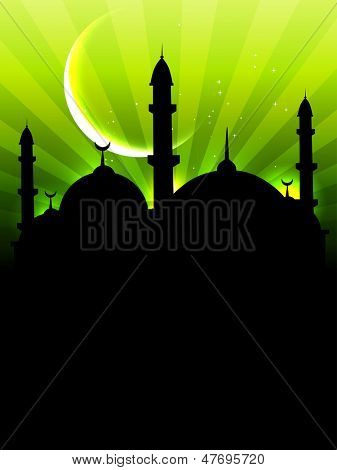 vector stylish islamic festival eid ul fitar background