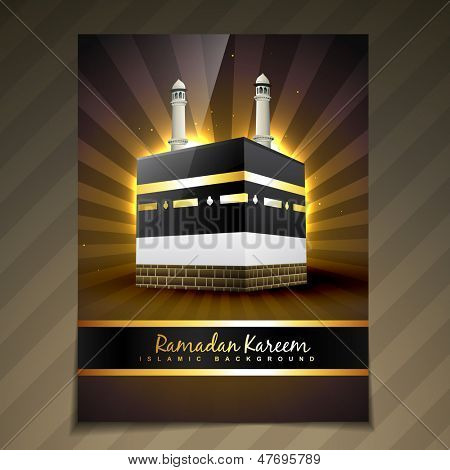 vector illustration of ramadan festival template design