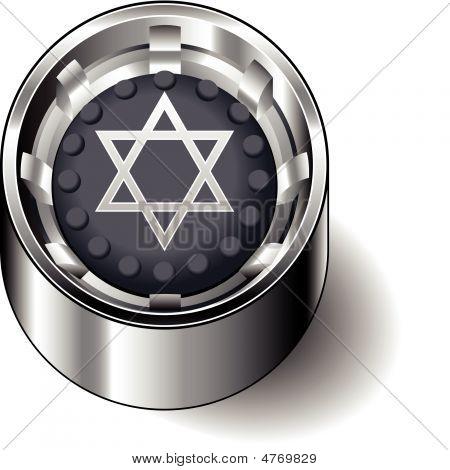 Rubber button round fait judaism