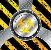 stock photo of bio-hazard  - Industrial background design with bio hazard warning sign - JPG