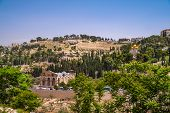 stock photo of gethsemane  - View on Mount of Olives in Jerusalem Israel - JPG