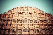 stock photo of harem  - Hawa Mahal the Palace of Winds Jaipur Rajasthan India - JPG