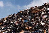 stock photo of scrap-iron  - scrap metal heap - JPG
