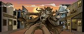 stock photo of gunfights  - Undead Gunslinger - JPG