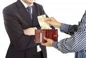 foto of pervert  - Giving a bribe - JPG