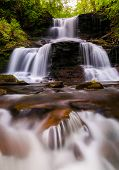 Tuscarora Falls And Small Cascades On Kitchen Creek In Ganoga Glen, Ricketts Glen State Park, Pennsy