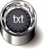 Rubber-button-round-document-file-type-txt