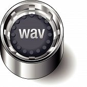 Rubber-button-round-document-file-type-wav