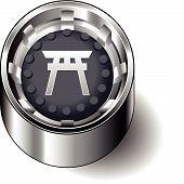 Rubber button round faith shinto