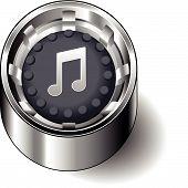 Rubber button round music note