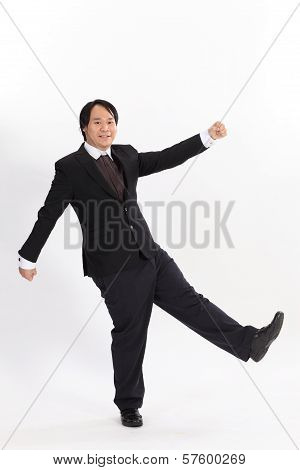 Isolated Picture Of Funny Business Man