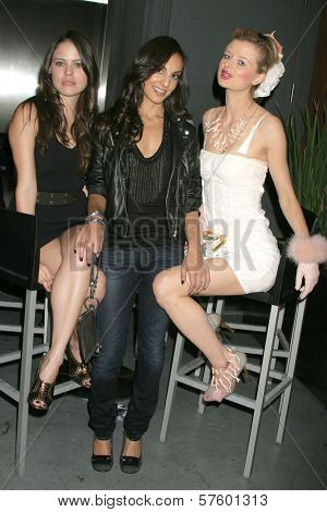 Natalia Flores, Shefali Kumar and Natalie Reid at the Kaylah Marin Record Release Party, Mickey's, West Hollywood, CA. 10-19-09