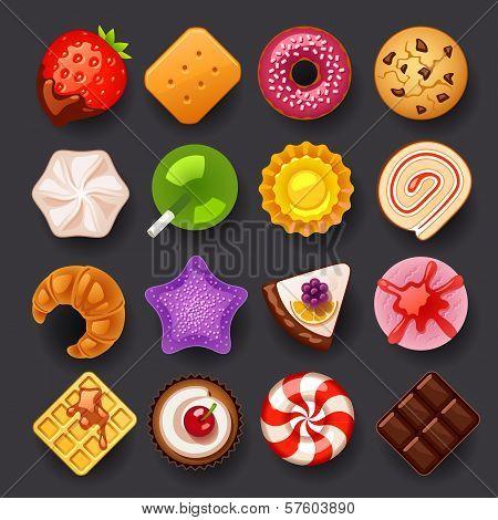 dessert icon set