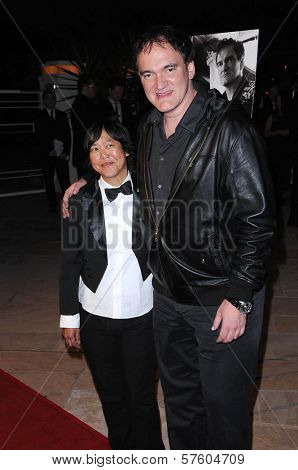 Cindy Mah and Quentin Tarantino at the 4th Annual Kirk Douglas Awards for Excellence in Film Awards. Biltmore Four Seasons, Santa Barbara, CA. 10-22-09