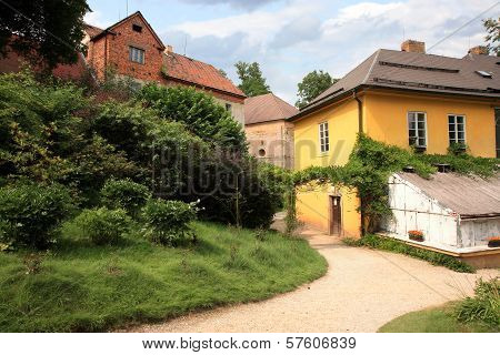 Palace outbuildings in Ratiborice, Czech Republic,