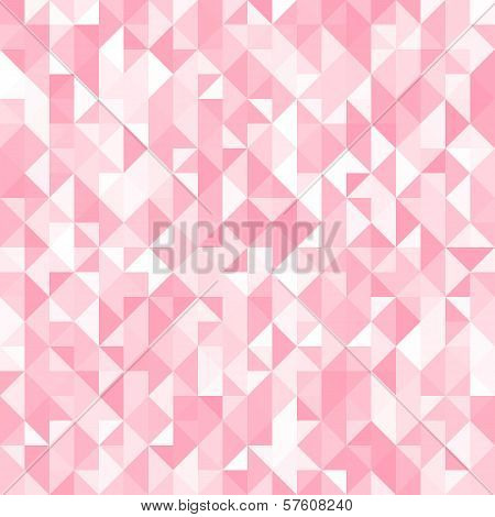Abstract crystal pink triangle background. Vector illustration