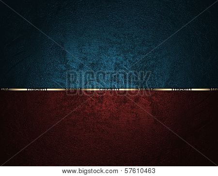Blue texture with red name plate for text and gold trim