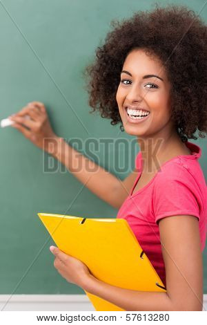 Beautiful African American Student