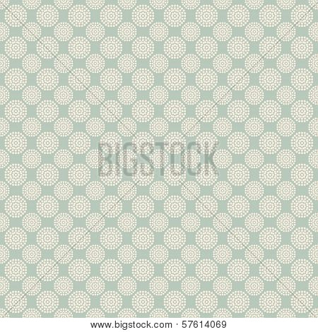 Floral vector seamless pattern with dots (tiling).