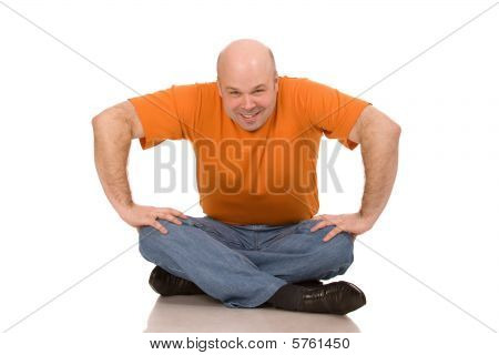 Man In Orange T-shirt